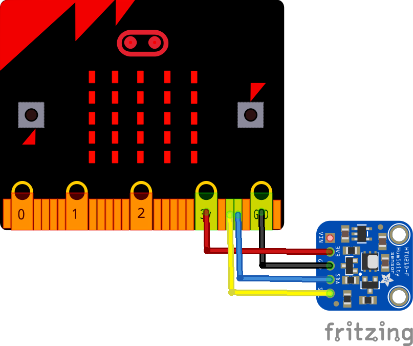 microbit and sht21