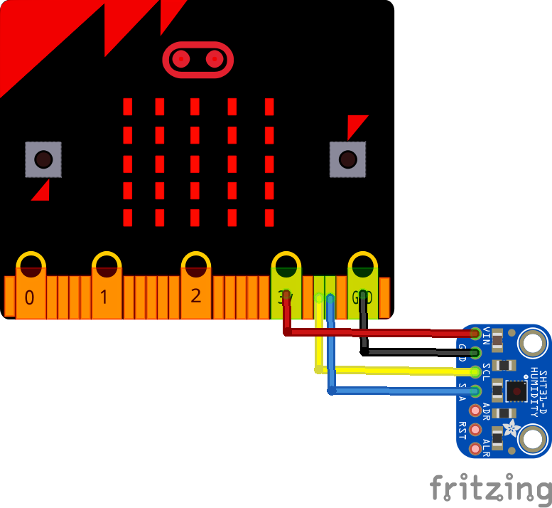 microbit and sht31