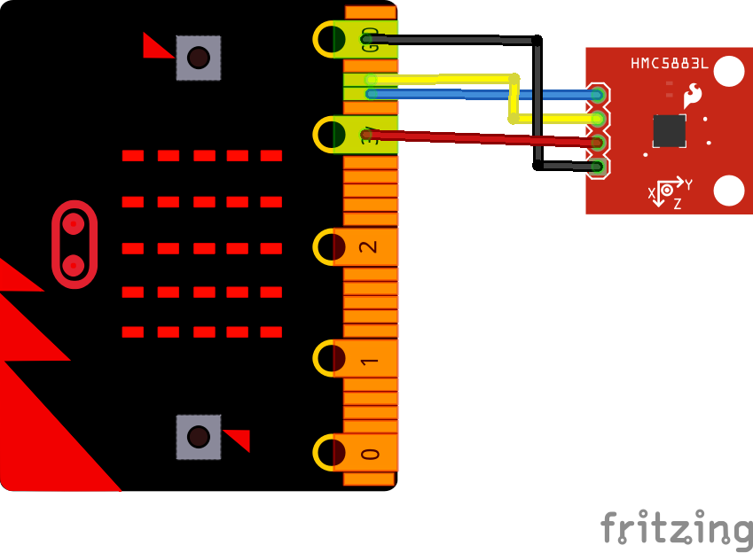 microbit and hmc5983