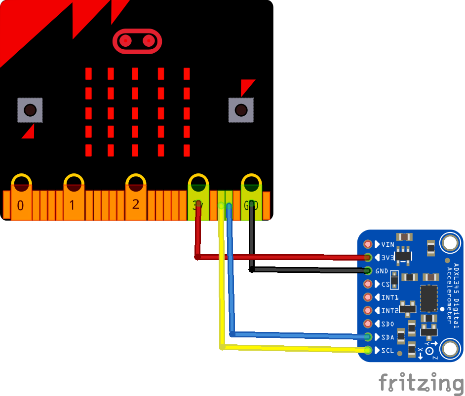 microbit and adxl345