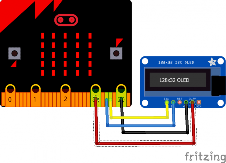 microbit and OLED display example | Microbit learning