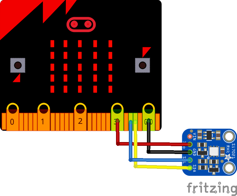 microbit and SI7021