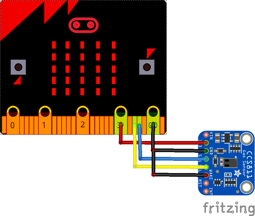 microbit and CCS811