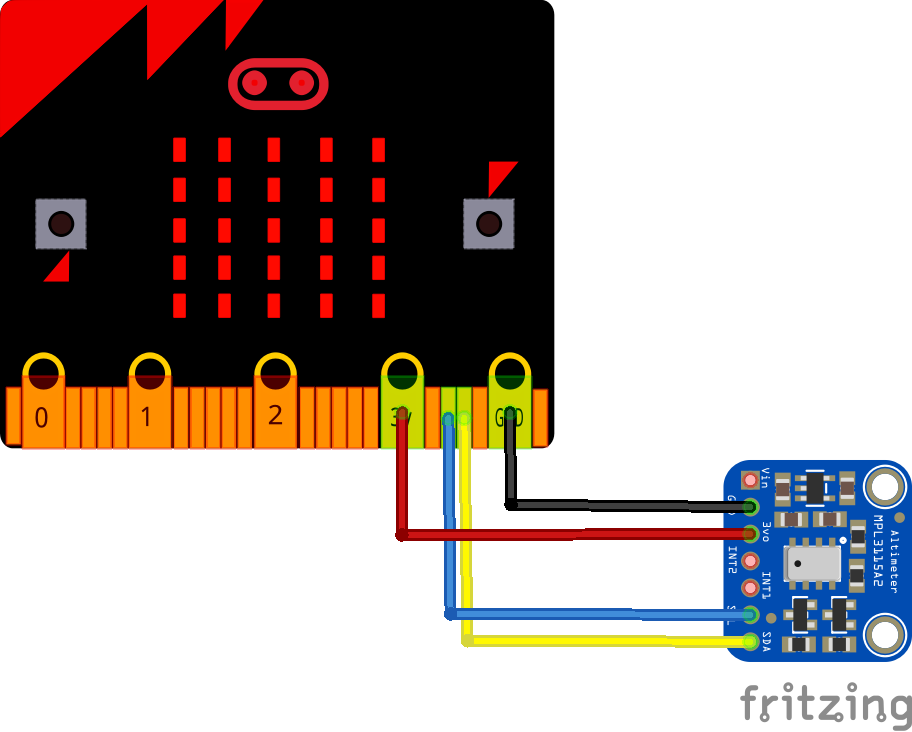 microbit and MPL3115A2