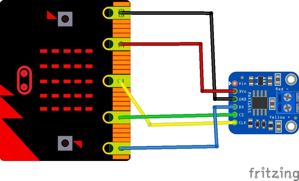 microbit and max6675