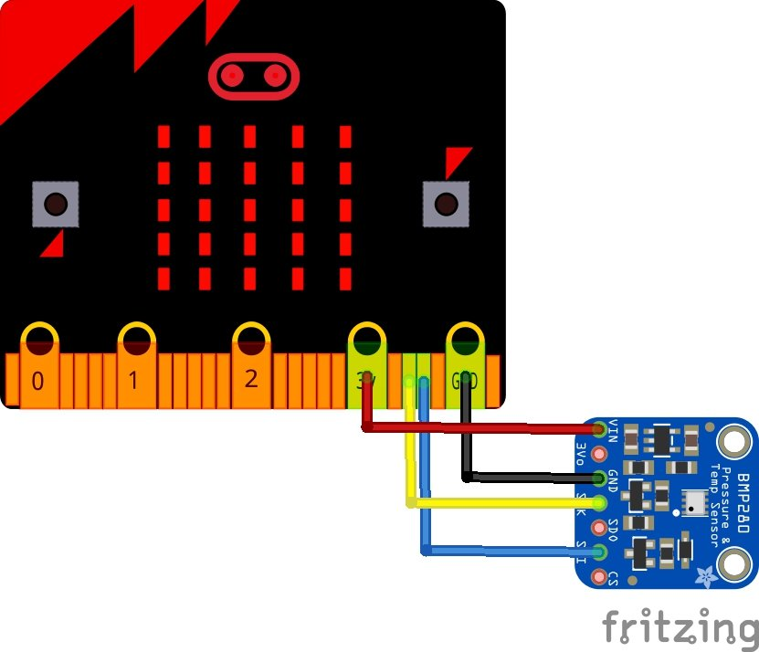 microbit and bmp280