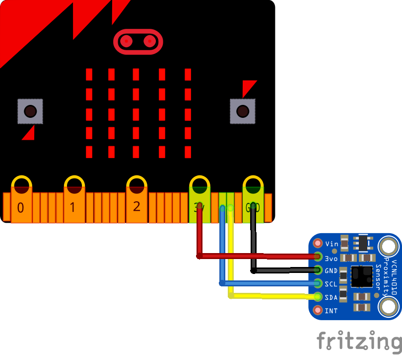 microbit and VCNL4010